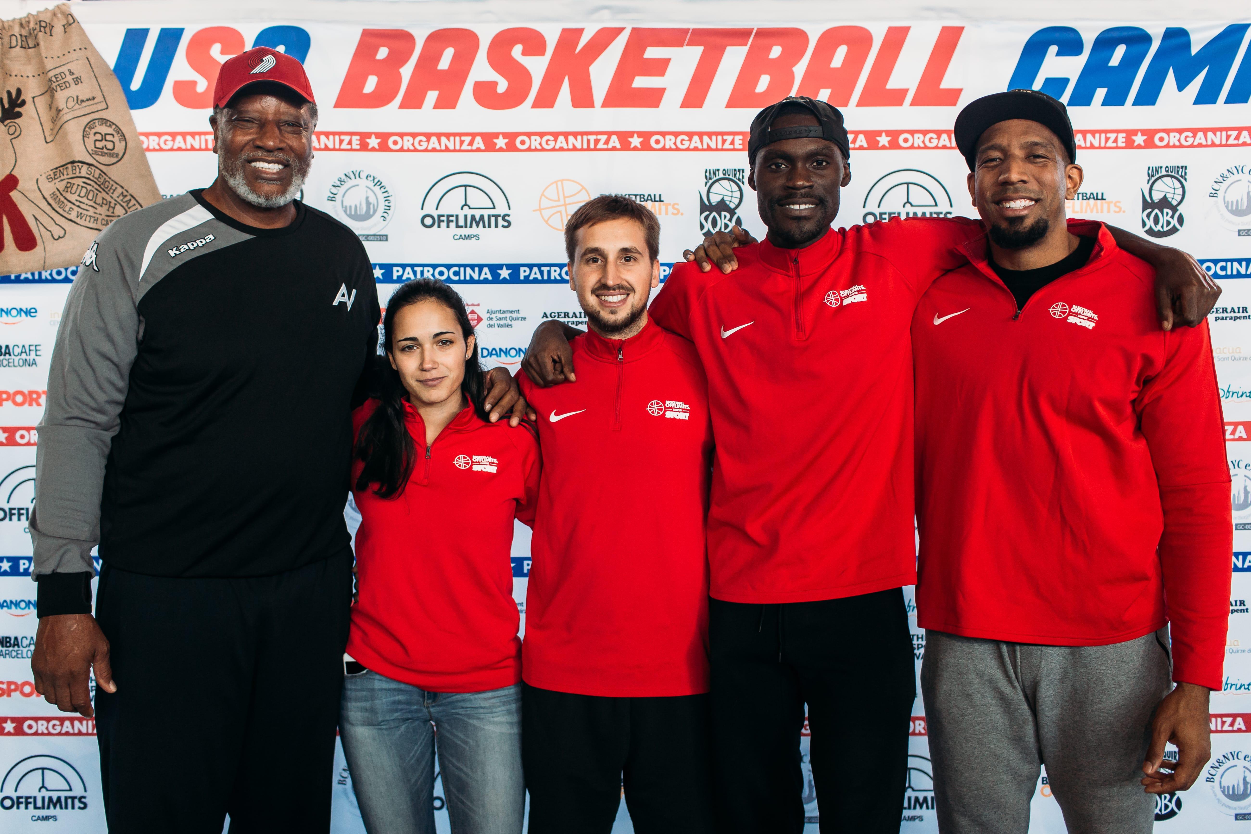 Audie Norris, Kemba Brenya, David King, Lluís Palet - Basket Camp Barcelona