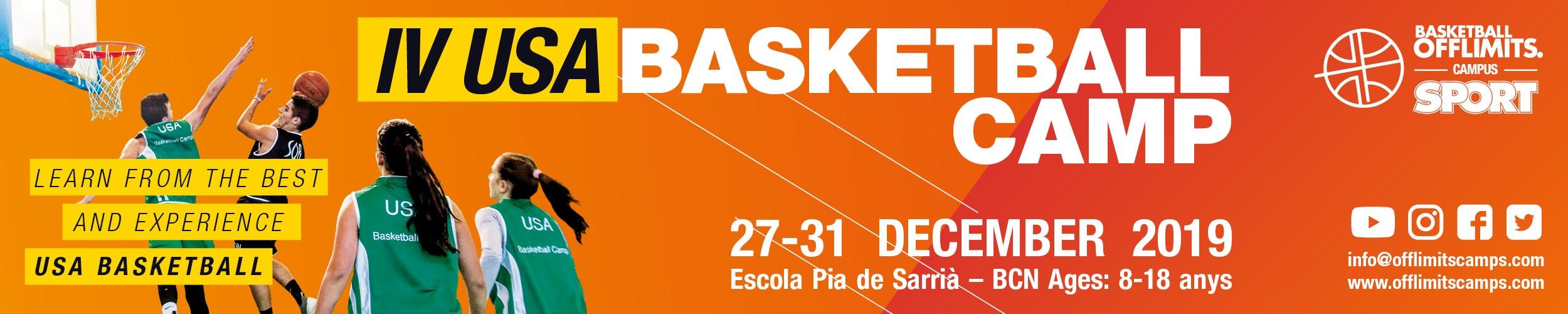 Basketball camp Barcelona christmas 2020