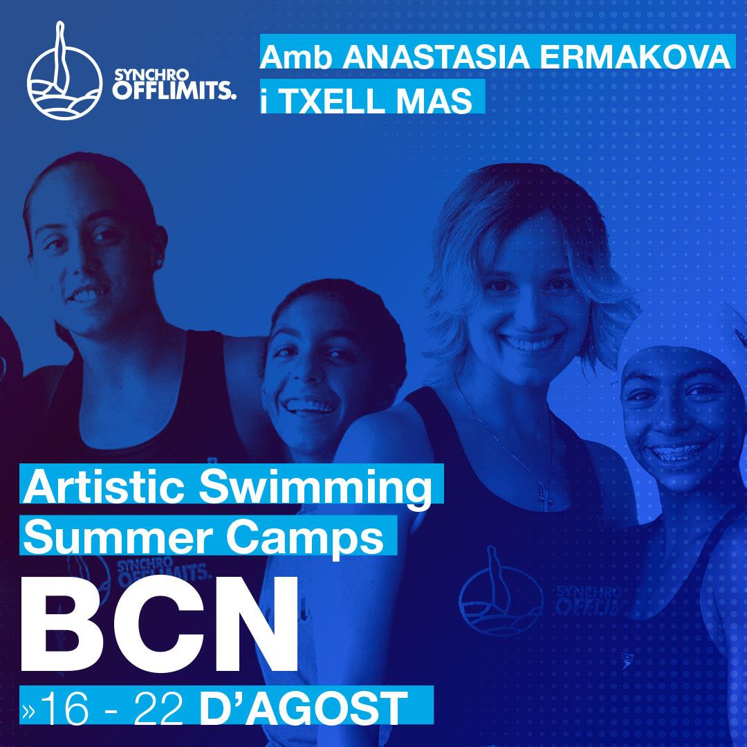 Campus natació artística - barcelona 2020 - offlimitscamps