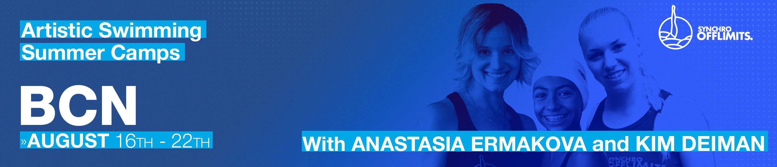 synchrocamps in barcleona 2020 august anastasia ermakova kim deiman