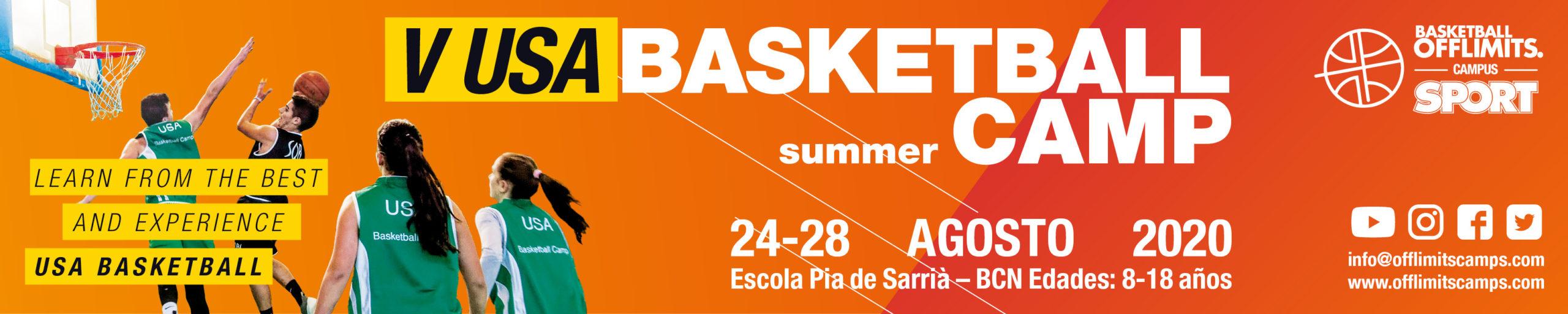 Campus de baloncesto de verano barcelona 2020