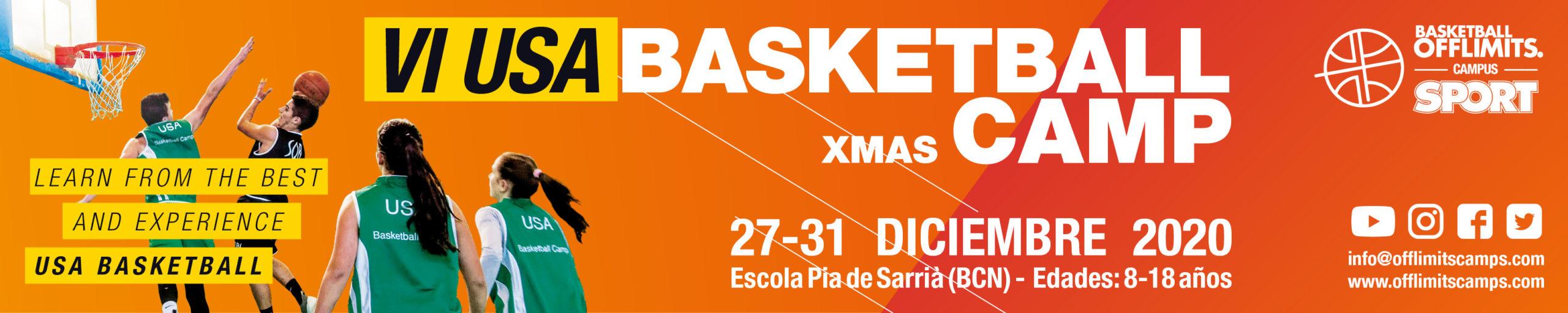 Campus de baloncesto de navidad en barcelona 2020